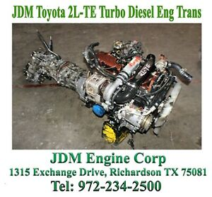 Toyota 2l Te Engine Jdm 2l Turbo Diesel Engine Jdm 2l Te Engine Manual Trans 2 4