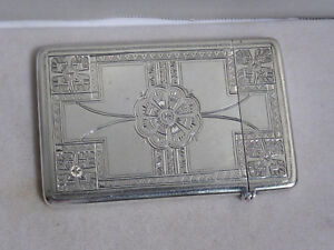 Early 1900 S Vintage Tiffany Co Aesthetic Movement Card Holder Sterling Silver