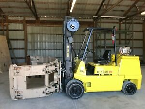 2001 Hyster 120 Xl2 Forklift W Roll Clamp Propane
