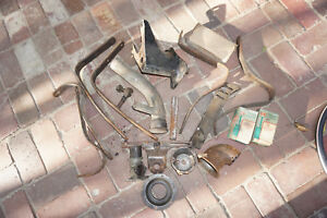 Lot Antique Ford Parts Bumper Brackets Spare Tire Gas Neck Model A T 1932