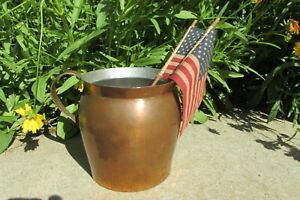 Primitive Copper Pitcher Country Farm Cabin