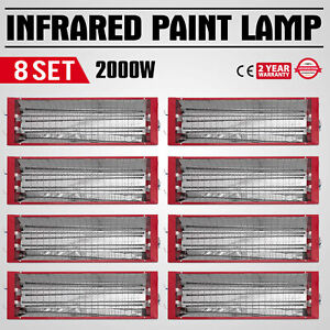 Fine 8x2000w Infrared Ir Paint Curing Heating Lights Body Shop Booth Cover