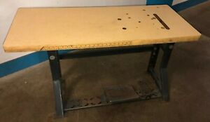 Vintage Singer Industrial Sewing Machine K leg Table And Top Our 7
