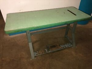 Vintage Singer Industrial Sewing Machine K leg Table And Top Our 8