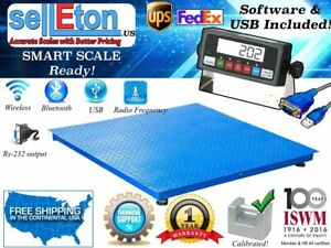 48 X 48 Floor Scale Industrial pallet Scale With Software Usb 5000lb X1lb