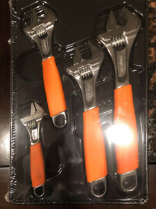 Snap On Fadh704bo 4 Pc Flank Drive Adjustable Wrench Set 6 12 Orange