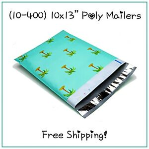 10 400 Pack 10x13 Palm Trees Designer Poly Mailers free Shipping