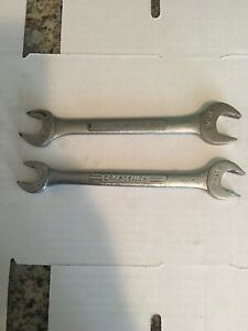 Lot Of 2 Craftsman Open End Combination Wrenches V 44581 And Vv 44507 Free Ship