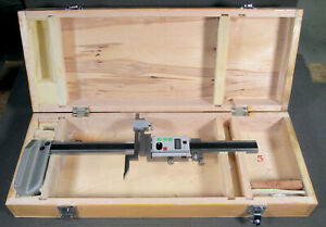 Digital Electronic Height Gauge 12 Inch With Wood Box Excellent Condition