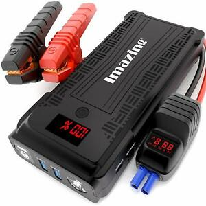 Car Jump Starter 2500a 12v Auto Battery Booster Portable Power Pack Jumper Cable