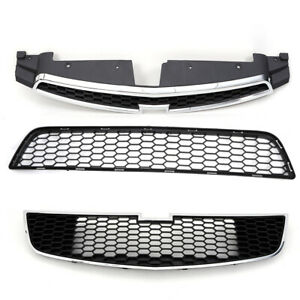 For Chevy Cruze 2011 2012 2013 2014 Front Grille Set Car Chrome Bumper Plastic