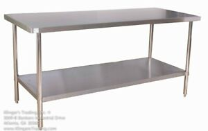 30 X 60 All Stainless Steel Work Table