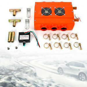 12v 3h Double Side Car Truck Heater Underdash Double Compact Air Heater Us Ship