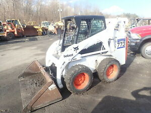 Bobcat 773 Skid Steer Loader Turbo Kubota Diesel Q a Aux Gp Bucket
