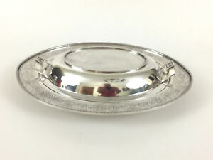 Antique Edwardian W B Mfg Co Silver Platted Covered Serving Dish 1901 1910s