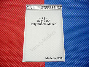10 Large Poly Bubble Envelopes 5 10 5 x 16 Padded Mailers Made In Usa