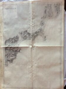 Vintage Nautical Chart Du Cap Drammont Au Var 1897 1898