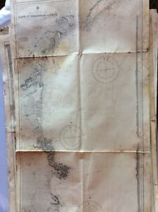 Vintage Nautical Chart Cape St Sebastian To Sete 14 June 1894