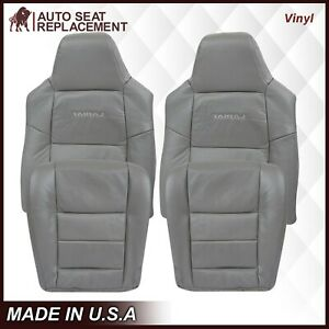 2003 2007 Ford F250 F350 Lariat Leather Or Vinyl Seat Cover In Medium Flint Gray