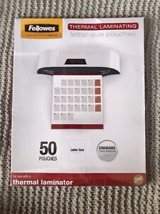 Fellowes Thermal Laminating Pouches Letter Size 9 5 Inches By 11 Inches 3 Mil
