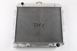 Polished 3 Rows All Aluminum Radiator For Mopar Dodge Plymouth Cars 22 Core