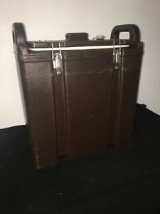 Cambro Brown Insulated Soup beverage Carrier 350lcd 3 3 8 Gallon Capacity 15