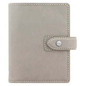 Filofax Malden Stone Pocket Size Leather Organizer Agenda 2019 Calendar 025812