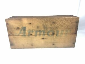 Vintage Armour S Star Corned Beef Wooden Crate Advertising Display Shelf