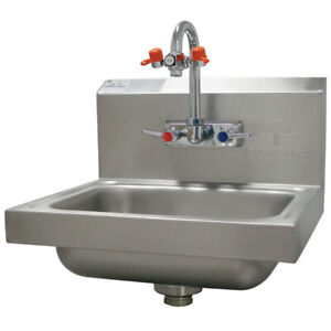Used Advance Tabco Hand Sink With Eye Wash 15 1 4 In W 7 ps 55 Silver
