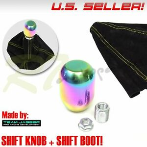 Fit Chrysler Dodge M8 Neo Stainless Steel Stick Shifter Knob Yellow Stitch Boot