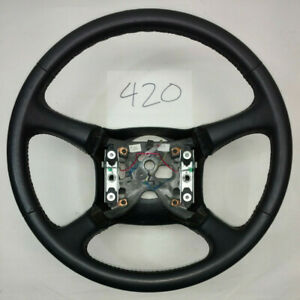 1999 2002 Chevrolet Silverado Gmc Sierra Steering Wheel Leather 1500 2500