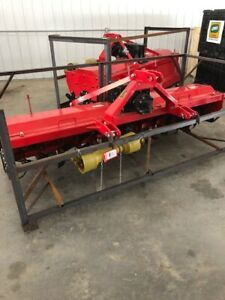 Extra Heavy Duty 3 Point 8 Ft Rotary Tiller Tractor Tiller Red Color