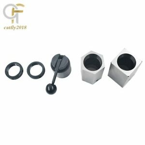 New 5c Collet Block Set Square Hex Rings Collet Closer Holder Usa