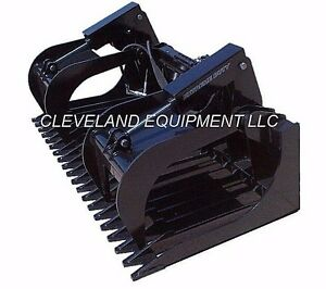 84 Extreme duty Rock Grapple Attachment Bobcat Skid steer Loader Tine Bucket 7