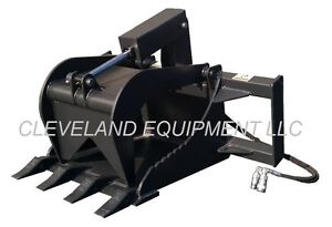 New Stump Grapple Bucket Skid Steer Loader Tractor Attachment John Deere Holland