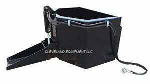 New Hydraulic Concrete Chuter Bucket Attachment Bobcat Skid Steer Track Loader