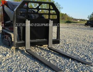 New 36 Pallet Forks Frame Attachment Bobcat Mt85 Mini Skid steer Track Loader
