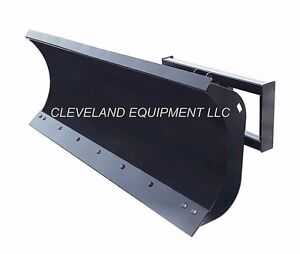 New 72 Hd Snow Plow Attachment Skid steer Loader Angle Blade John Deere Case 6