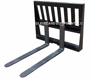 New 3 000 Lb Pallet Forks Frame Attachment Kubota Skid Steer Tractor Loader