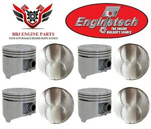 Chrysler Dodge Mopar 318 V8 Enginetech Flat Top Pistons 8 1967 1984