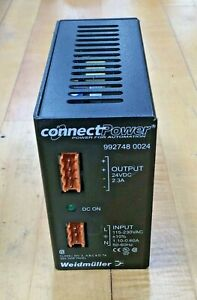 Weidmuller Connect Power Power Supply 992748 0024 Output 24vdc Input 115 230vac