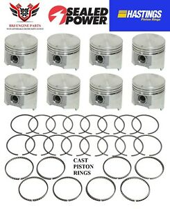 Chrysler Dodge 318 5 2l Sealed Power Pistons 8 And Hastings Rings 1985 2003
