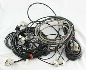 Olympus Ax70 Provis Lsm Laser Microscope Lot Various Cables Fluoview