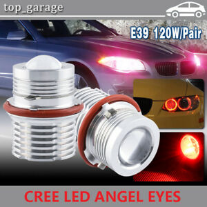 2x 60w Red Angel Eye Led Halo Ring Bulb For Bmw 7 series E65 E66 740 745 750 760