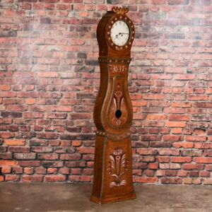 Antique Folk Art Painted Swedish Mora Clock