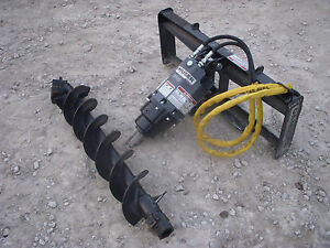 Bobcat Skid Steer Attachment Danuser Ep 10 Hex Auger With 12 Bit Ship 199