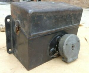 1915 1916 Model T Ford Coil Box W Switch Lid Original One Piece Top