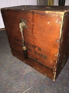 Antique Lothrops Patent Fog Horn Wooden Box Working