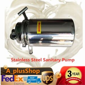 Stainless Steel Sanitary Pump Sanitary Beverage Milk Delivery Pump 3t h 0 75kw