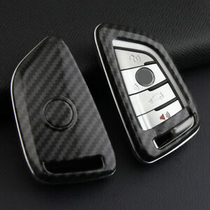 For Bmw 2014 2021 Carbon Fiber Hard Smart Key Fob Case Shell Cover Accessories